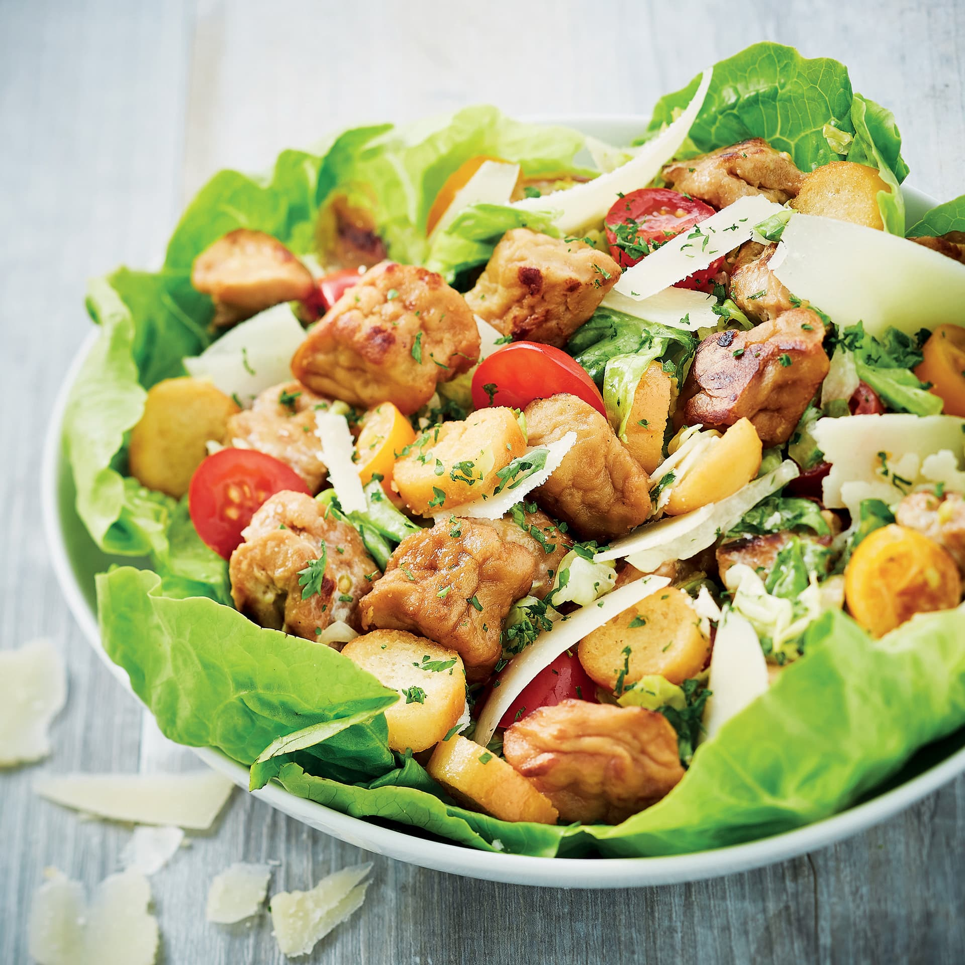 "Veggie Pieces ""S"" Caesar Salad"