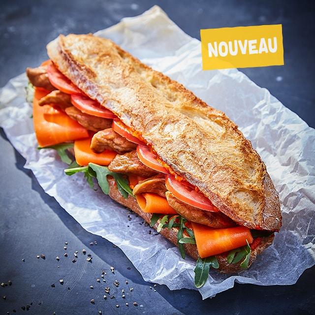 Sandwich à l'Émincé Végétal