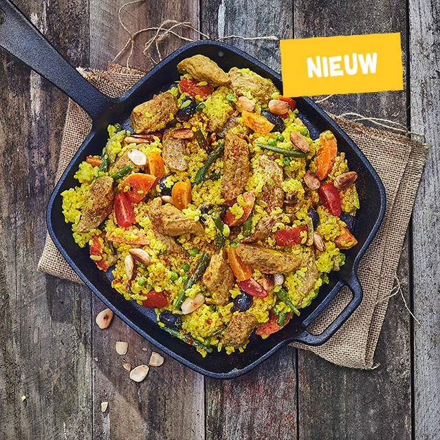 "Veggie Pieces ""M"" in paella-stijl"